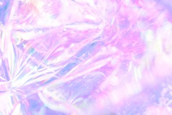 Sparkling glitter abstract background purple blue desaturated color, fluid defocused, macro. Sequins sparkling over silver stars, holographic pastel bokeh. party festive background