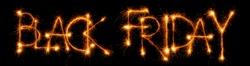 Sparkling inscription Black Friday on a black background