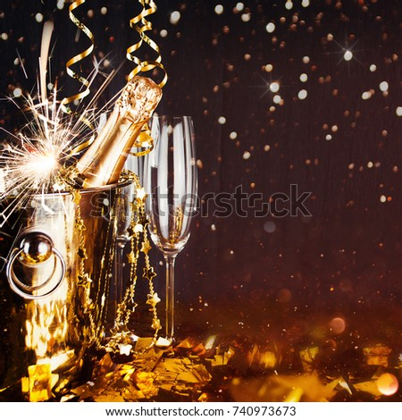 Sparkling New Year background #740973673