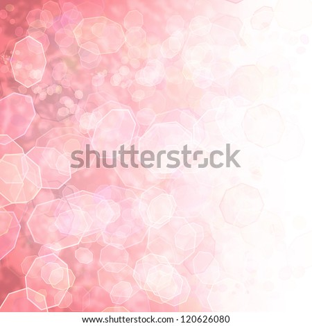 Sparkling pink seasonal holiday background with white light.