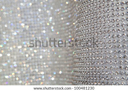 sparkly grey background with focus and defocused zones