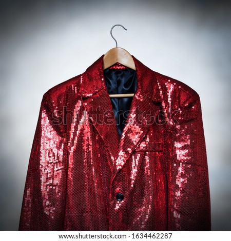 Sparkly red sequin entertainer jacket