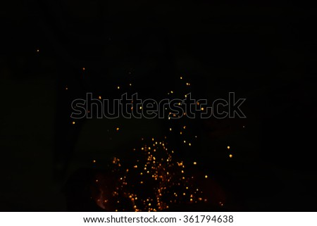Stock Photo Sparks charcoal