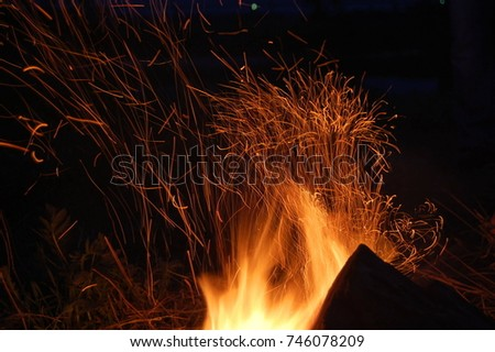 Sparks fire #746078209