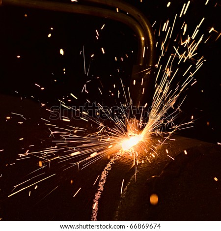 Sparks in smelting industry