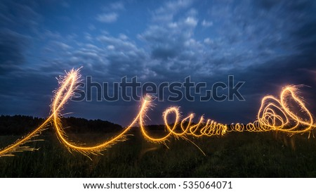 Sparks in the long exposure