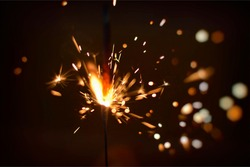 Sparks of Firecracker in night