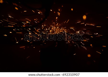 Sparks of welding #692310907
