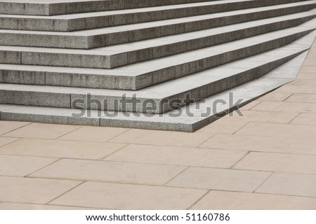 Sparse composition of stairs with diminishing perspective