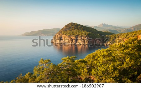 Sparsely populated amazing Shores of the Mediterranean - stock photo