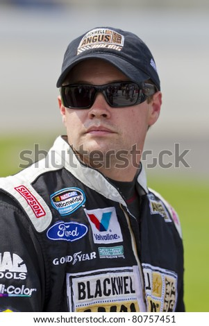 SPARTA, KY - JULY 09: Ricky Stenhouse, Jr. (6) waits to qualify for the Feed the Children 300 race at the Kentucky Speedway in Sparta, KY on July 08, 2011.