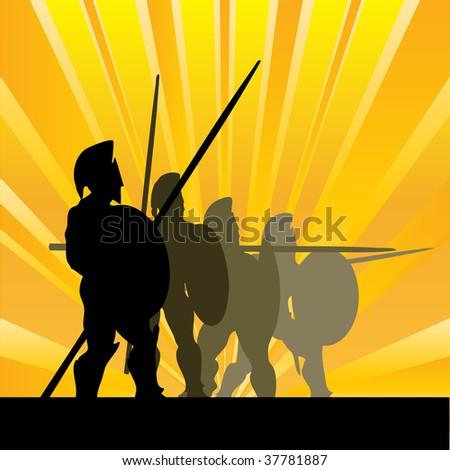 Spartan Sunrise Bitmap Background