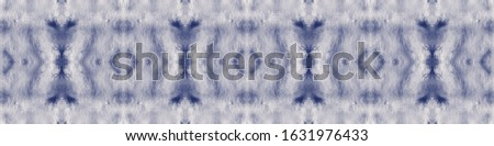 Spattered Paint. Aquarelle Art. Watercolor Artwork. Indigo,White Traditional Japanese Wave Style. Abstract Continuous Painting. Bohemian Abstract Style. Wet Spattered Paint.