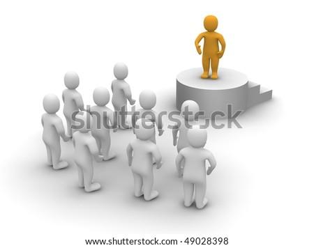 Speaker and audience. 3d rendered illustration.