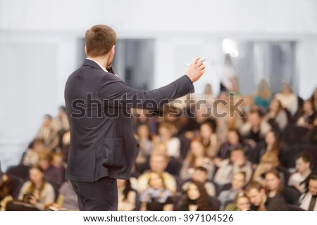 Speaker at Business convention and Presentation. Audience at the