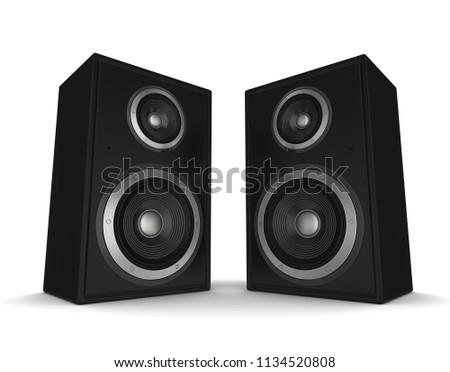speaker concept 3d illustration #1134520808