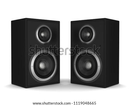 speaker concept 3d illustration isolated on white background #1119048665