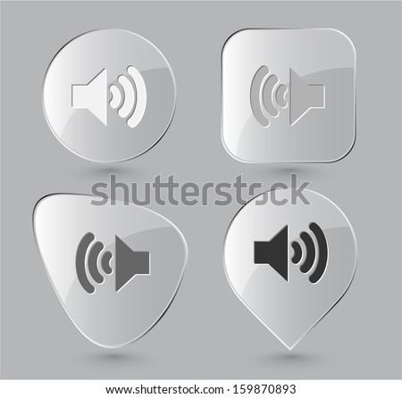 speaker glass buttons vector