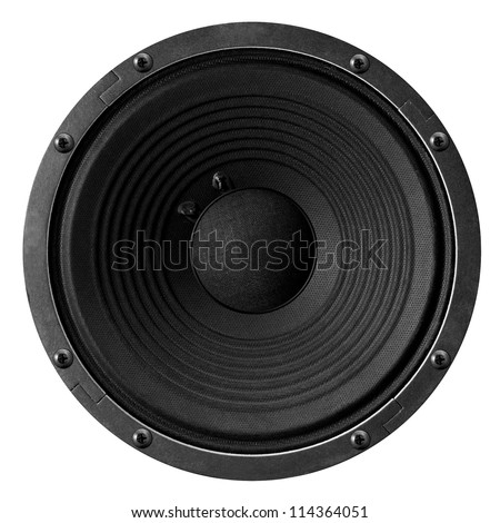 Speaker isolated on white background.
