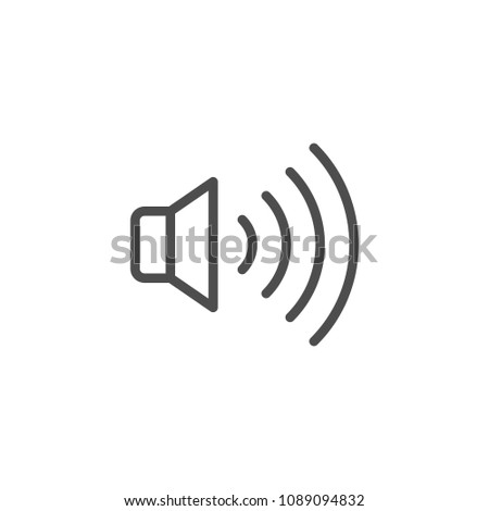 Speaker line icon isolated on white