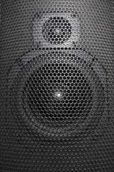 Speaker mesh close up. Full frame. Music audio concept