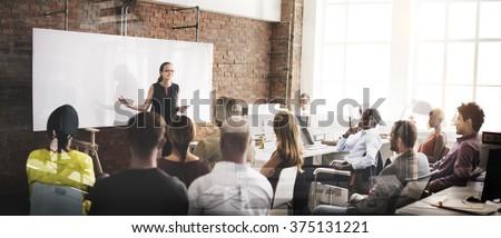 Speaker Seminar Corporate Business Meeting Concept