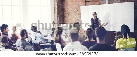 Speaker Seminar Corporate Business Meeting Concept #385593781
