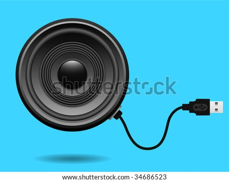 Speaker with USB cable