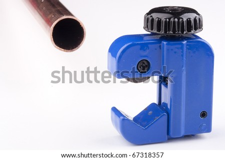 Special device for cutting water pipes blue.