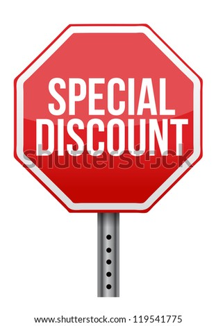 special discount illustration design over a white background