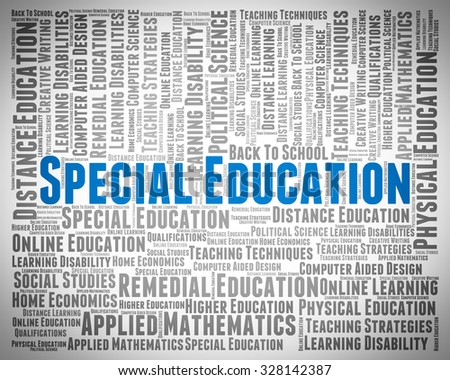 Special Education Indicating Slow Learner And Develop