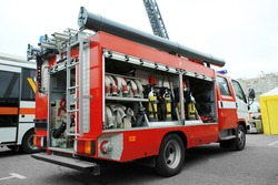 Special fire-fighting vehicle outdoors