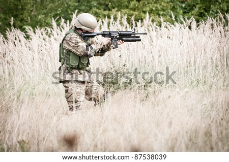 Special forces assault