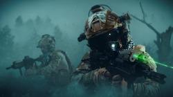 special forces soldier in battlefield . modern warfare..