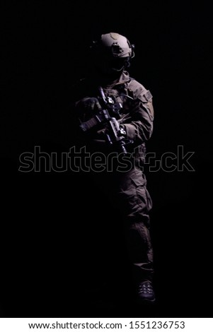 Special Forces Solider w/ Rifle and Uniform