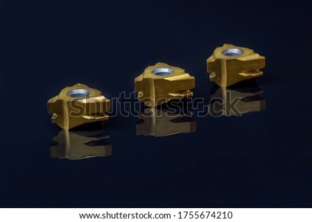 special inserts positive triangular tool with hole. Coated, cermet for steel stainless cast iron. Cutting facing boring chamfered parts automotive, jig, fixture.