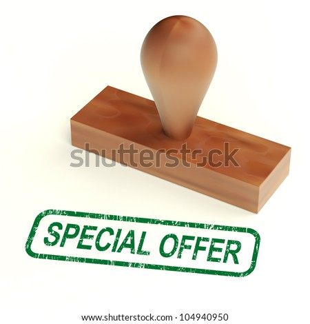 Special Offer Rubber Stamp Showing Discount Bargain Products