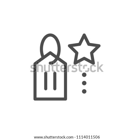 Special price line icon isolated on white