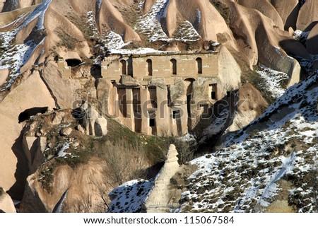 Special stone formation of Cappadocia, Nevsehir, Turkey.