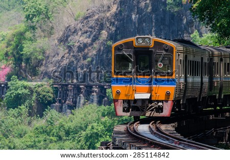 Special trains the Death Railway. Foto stock ©