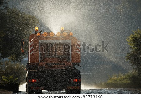Special truck for city cleaning.