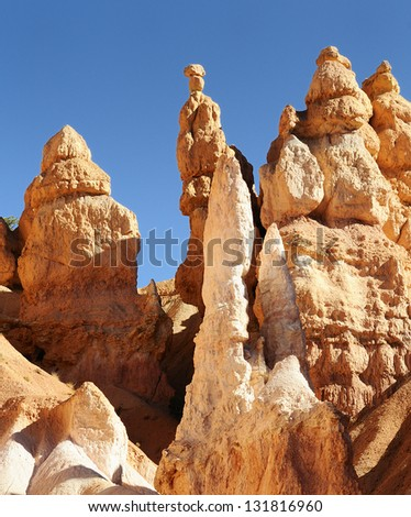 spectacular Hoodoo rock spires of Bryce Canyon, Utah, USA