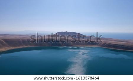 Spectacular lake 2. Aygır lake and Van Lake Stok fotoğraf ©