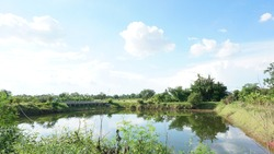 Spectacular photos of the pond and sky.
