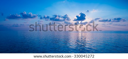 Spectacular sunset over the ocean. Maldives #330045272