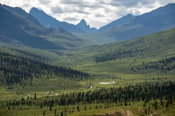 Spectacular Tombstone Territorial Park located in Northern Canada, Yukon Territory during the summertime.