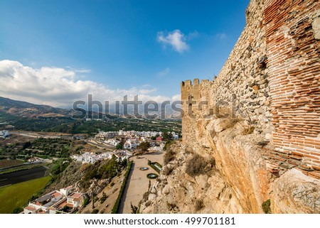 Spectacular view from Salobrena castle, Spain (horizontal) #499701181