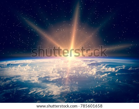 Spectacular view of earth from space. The elements of this image furnished by NASA.