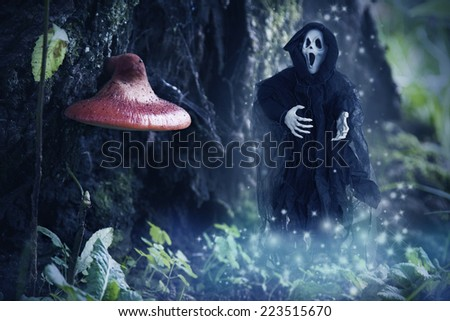 specter of death in the enchanted forest, halloween