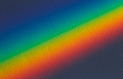 Spectral gradient of sunlight coming through a prism